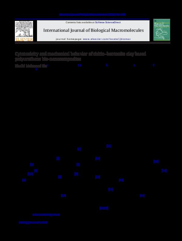 PDF) Cytotoxicity and mechanical behavior of chitin–bentonite clay