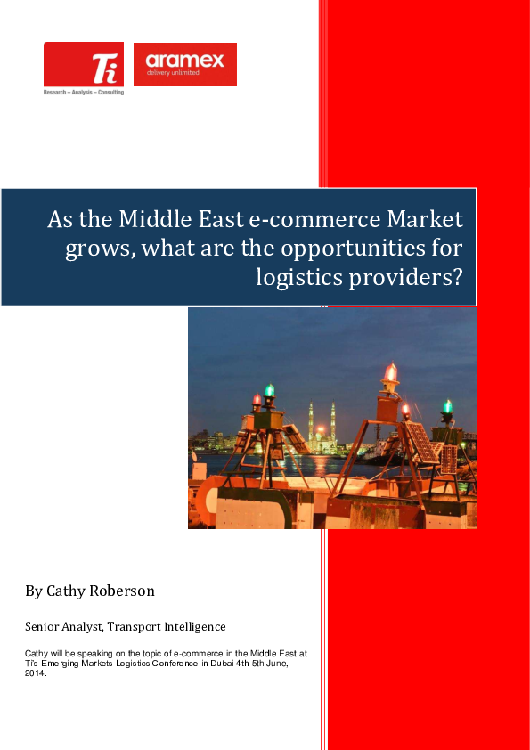 PDF) As the Middle East e-commerce Market grows, what are