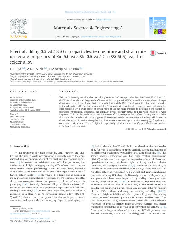 PDF) Effect of adding 0 5wt% ZnO nanoparticles, temperature