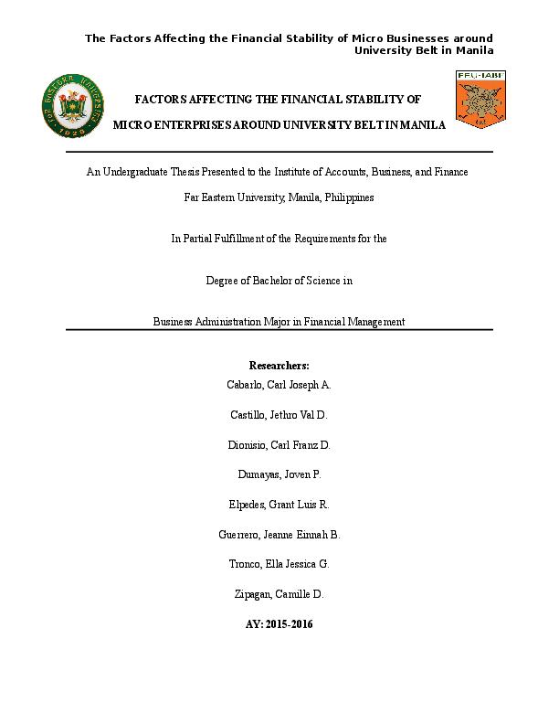 undergraduate thesis funding in the philippines