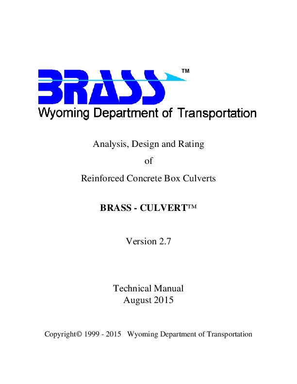 PDF) Analysis, Design and Rating of Reinforced Concrete Box Culverts