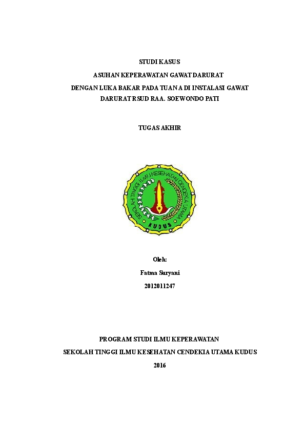 Doc Asuhan Keperawataan Luka Bakar Fatma Sy Academia Edu
