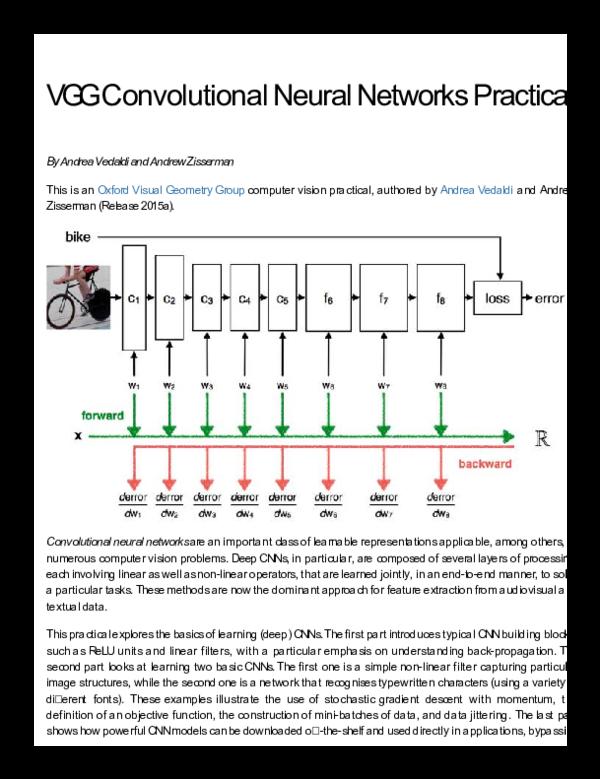 VGG Convolutional Neural Networks Practical | Leila R