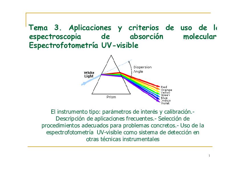 Uso manejo y calibracion del espectrofotometro