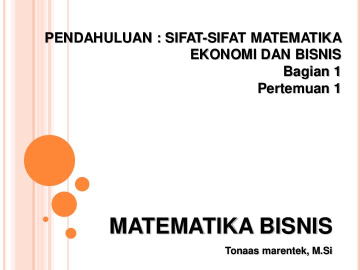 Pdf Matematika Bisnis Pendahuluan Sifat Sifat Matematika Willy Candra Academia Edu