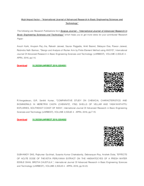 PDF) High Impact factor -International Journal of Advanced ...