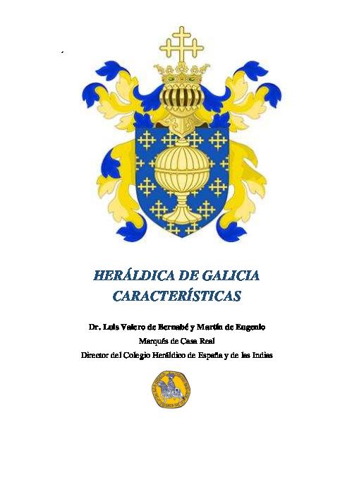 La Heráldica de Galicia  Características y Singularidades  a0b450a0c4c