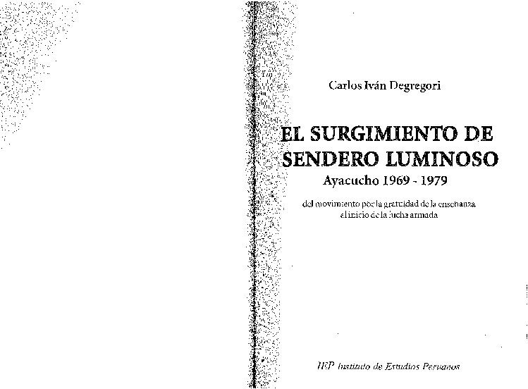 curriculum vitae carlos iván degregori