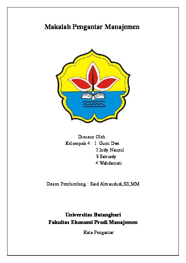 Doc Makalah Pengantar Manajemen Gusti Dwi Academia Edu