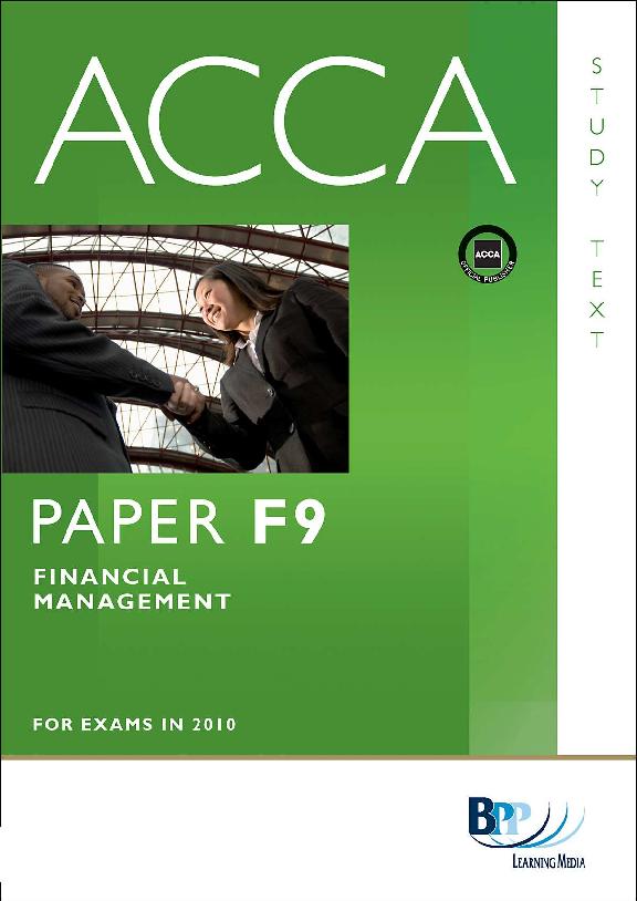 PDF F9 Financial Management Study Text BPP