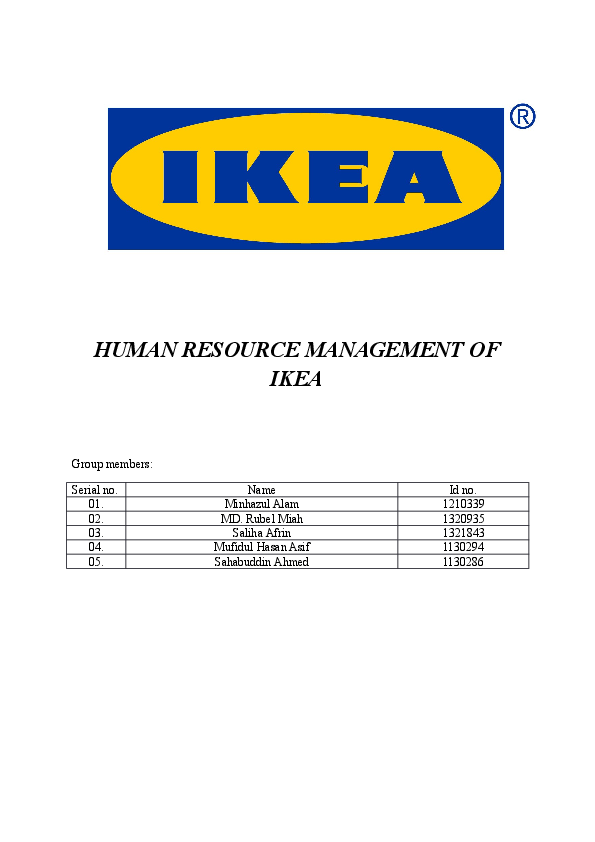 Doc Human Resource Management Of Ikea