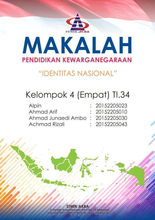 Pdf Makalah Identitas Nasional Achmad Rizali Academia Edu