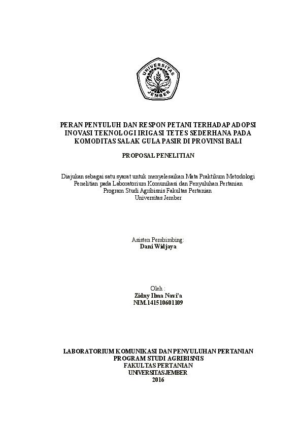 Doc Proposal Penelitian Salak Gula Pasir Zidny Navia Academia Edu