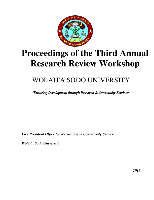 PDF) Proceedings of the Third Annual Research Proceeding of