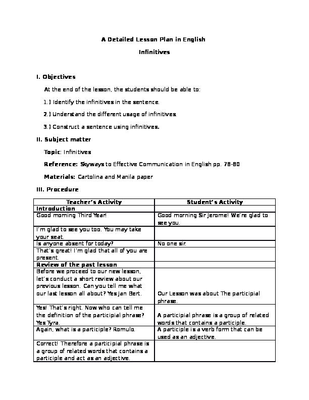 DOC) Detailed lesson plan (1)   alvaro garcia - Academia edu