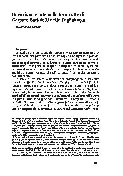 Paglialunga Ceramiche Prima Porta.Devozione E Arte Nelle Terrecotte Di Gaspare Bartoletti Detto