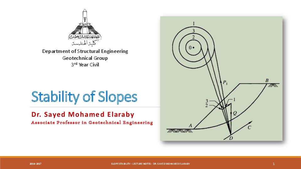 PDF) Stability of Slopes   Sayed M Ahmed - Academia edu