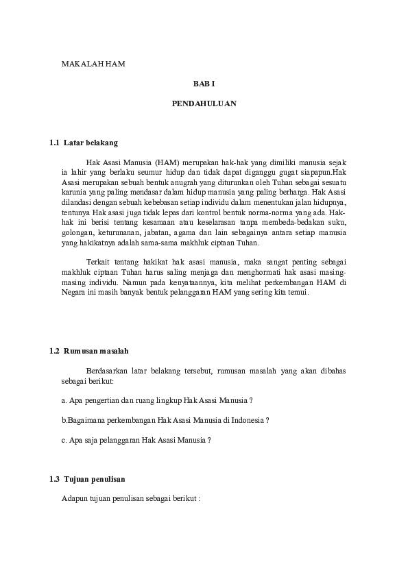 Doc Makalah Ham Soni Budi Academia Edu