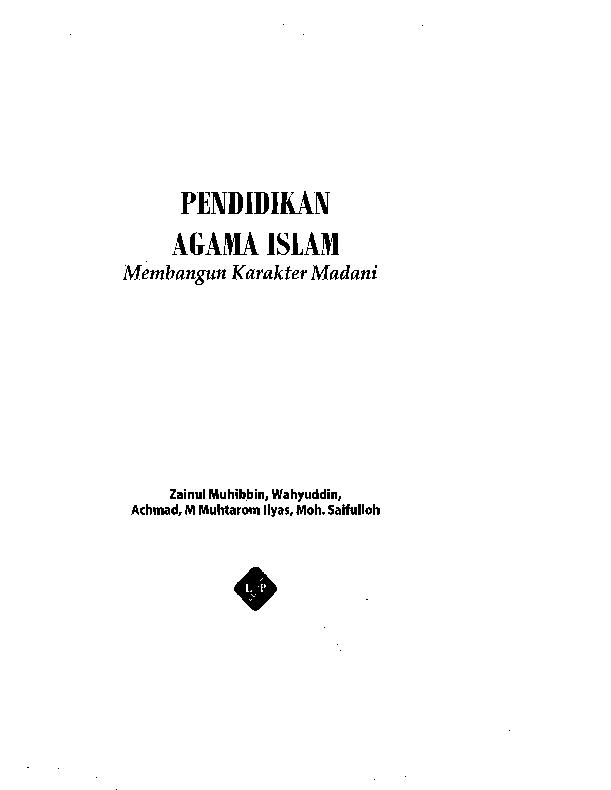 Pdf Pendidikan Agama Islam Ab G Kr Academia Edu