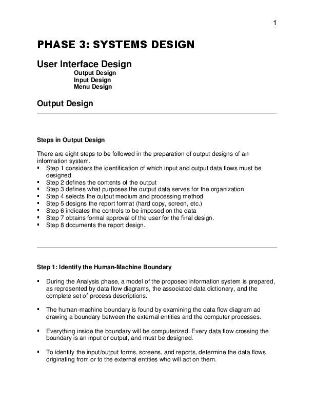 Pdf Systems Design User Interface Design Output Design Input Design Menu Design Paul Moya Academia Edu