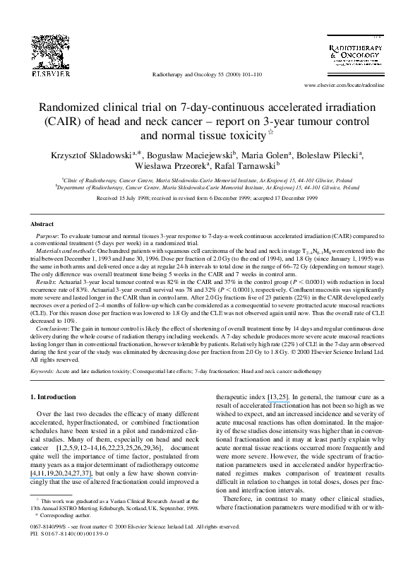 PDF) Randomized clinical trial on 7-day-continuous