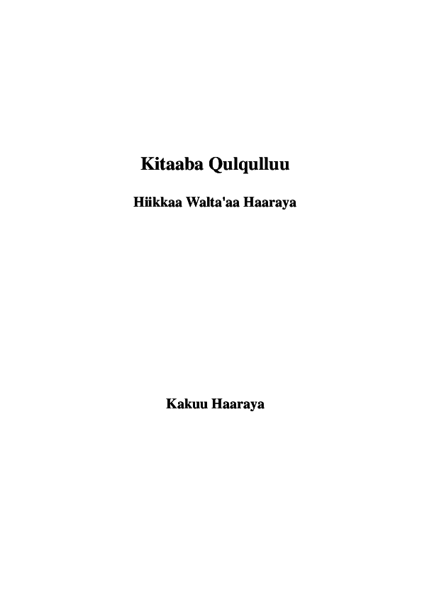 PDF) Bible Oromo latin cover | Fikre Fikadu Fufa - Academia edu