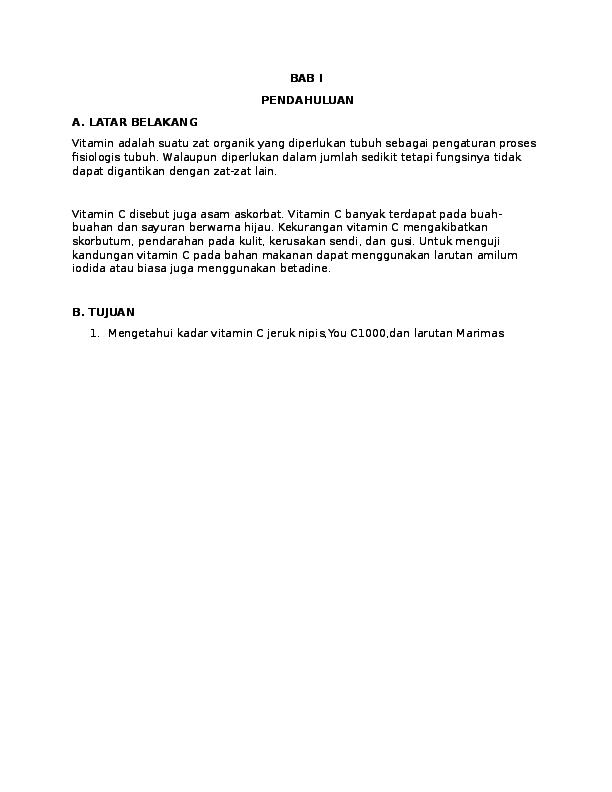 Doc Lap Uji Vit C Asli Diah Laililrahmawati Academia Edu