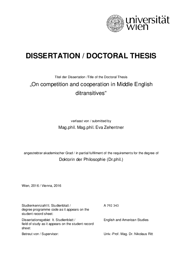 betreuen thesis english