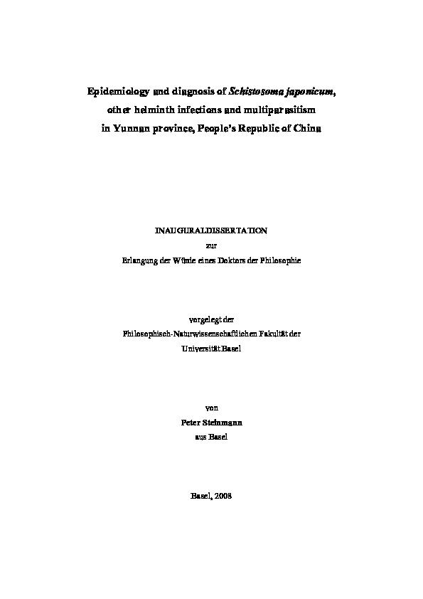 schistosoma japonicum diagnostico