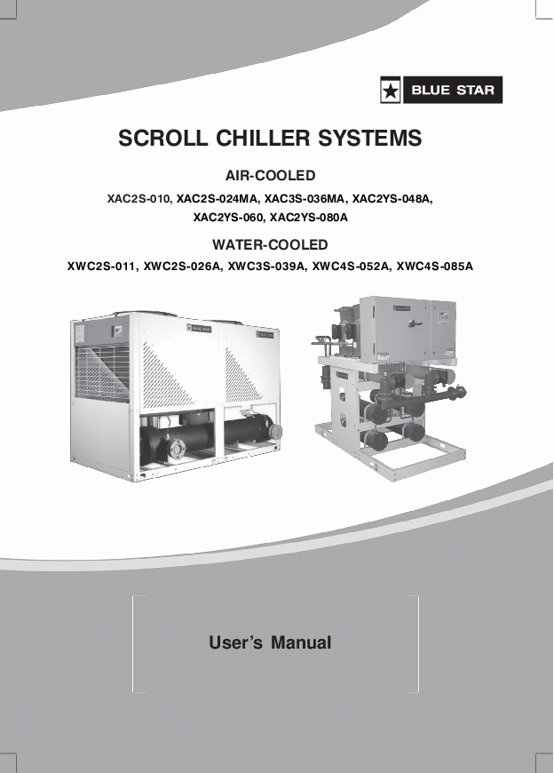 PDF) AIR-COOLED WATER-COOLED SCROLL CHILLER SYSTEMS User's ... on