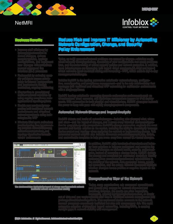 PDF) Infoblox datasheet netmri | hari krish - Academia edu