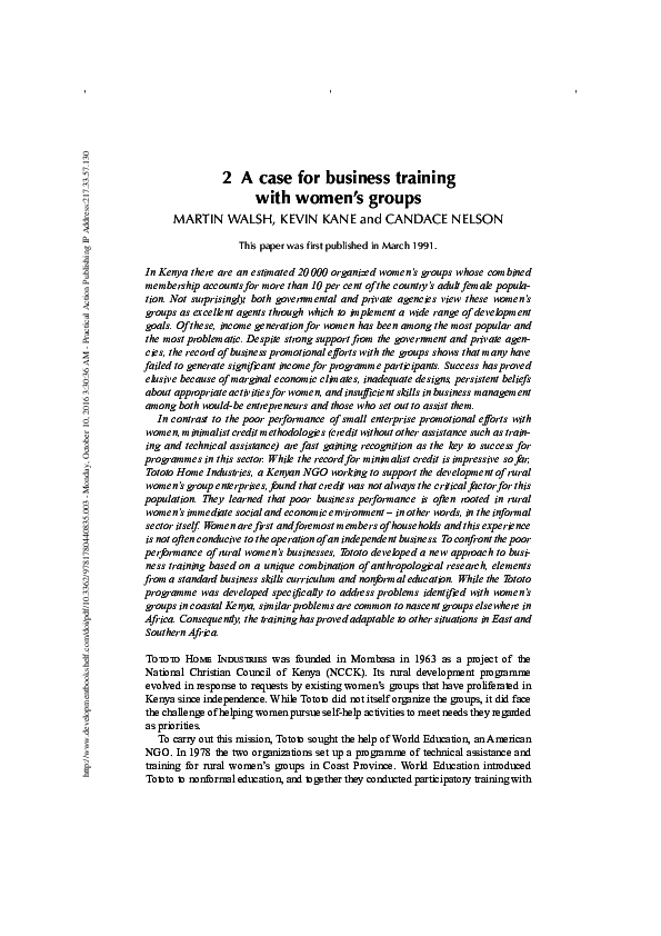 Business Development Research Papers Academia Edu