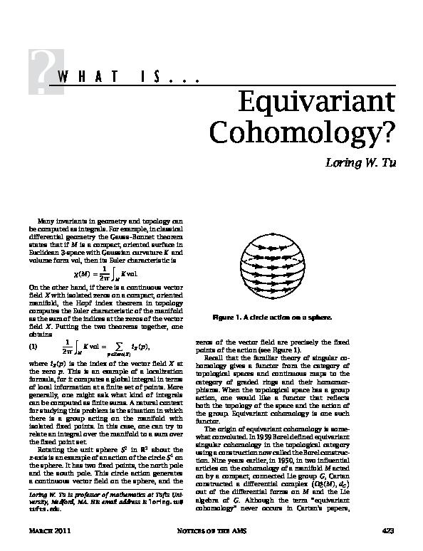 PDF) What Is Equivariant Cohomology | Loring Tu - Academia edu