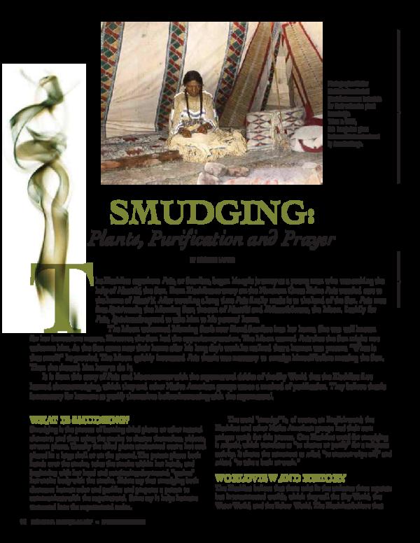 PDF) Smudging: Plants, Purification and Prayer | Rosalyn LaPier
