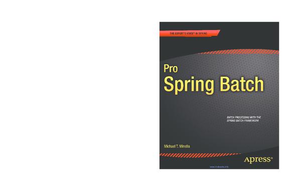 PDF) SOURCE CODE ONLINE Pro Spring Batch | Roger Corona