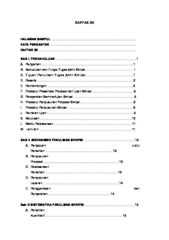 Doc Daftar Isi Skripsi Wind Stkippgri Sumenep Academia Edu