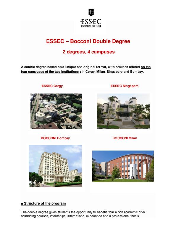 PDF) ESSEC Bocconi double degree | AZ ZS - Academia edu