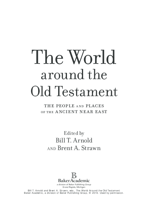 PDF) The World around the Old Testament: The People and Places of