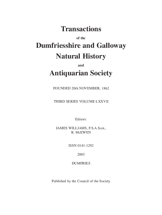 Pdf A Survey Of The Promontory Forts Of The North Solway Coast