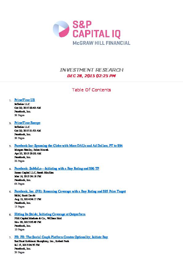 PDF) Facebook Inc Nasdaq GSFB Reports | BFMA Laurier - Academia edu