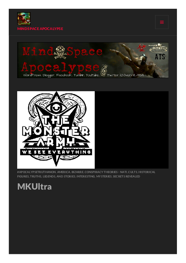 PDF) MKUltra MIND SPACE APOCALYPSE | Time Is The Substance I