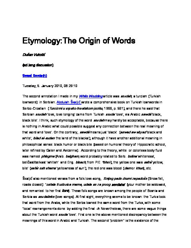 Etymology The Origin of Words  69daf4664c