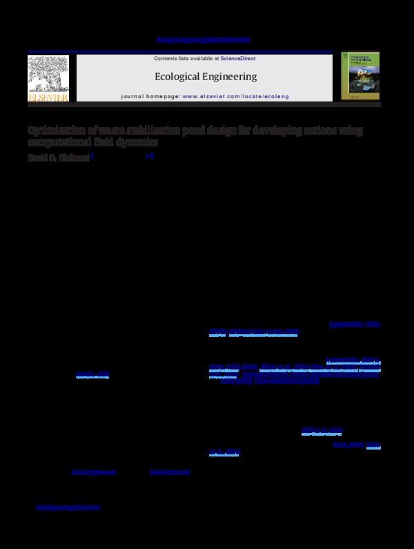 Pdf optimization of waste stabilization pond design for for Design of wastewater stabilization ponds