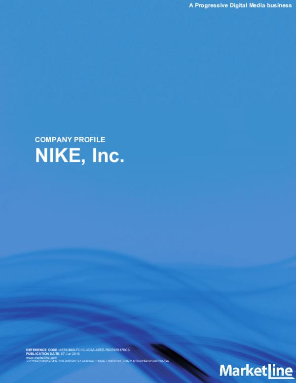 nike company profile pdf