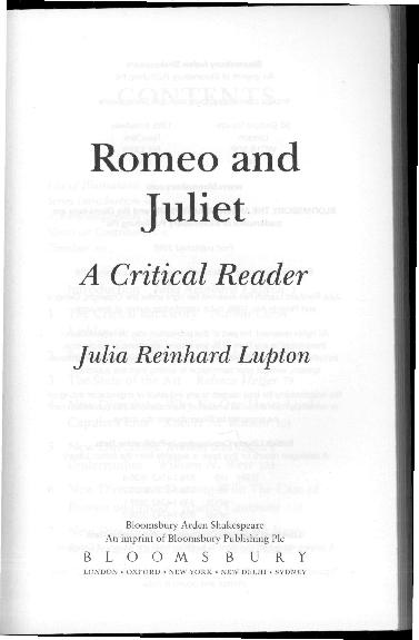 pdf romeo and juliet the critical backstorypdf  naomi c liebler  pdf