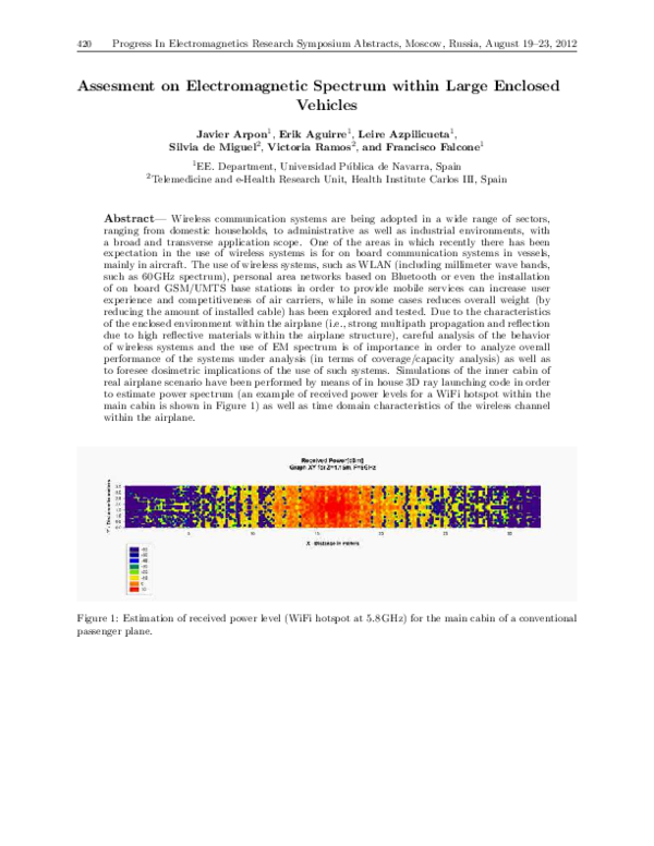 PDF) Assesment on Electromagnetic Spectrum within Large