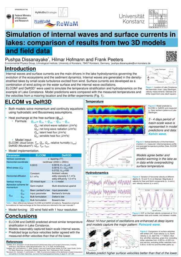 PDF) Simulation of internal waves and surface currents in lakes
