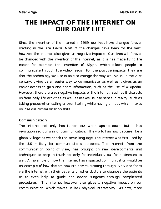 Essay on uses of internet in daily life cheap book review proofreading sites ca