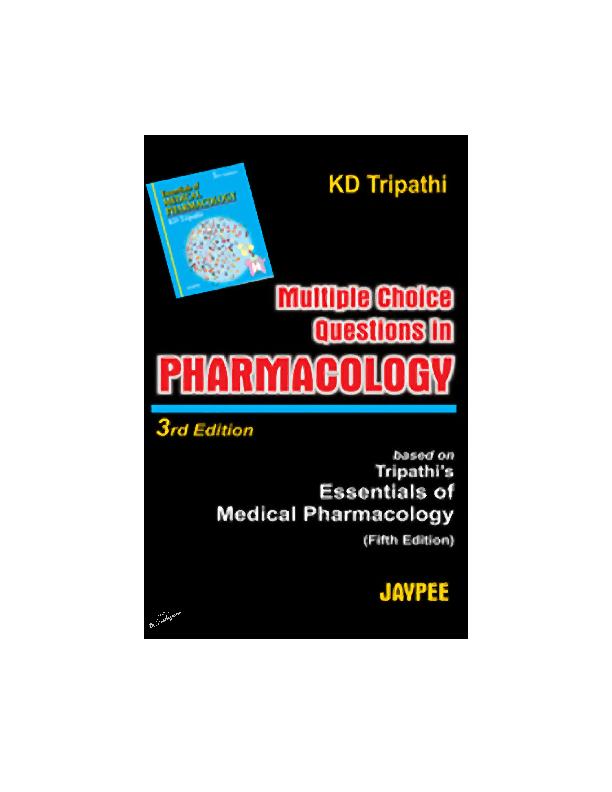 PDF) [KD Tripathi] MCQ's in Pharmacology | kavin keerthia