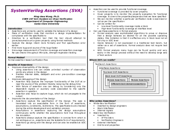 PDF) SystemVerilog Assertions (SVA | V Naresh Kumar Reddy - Academia edu